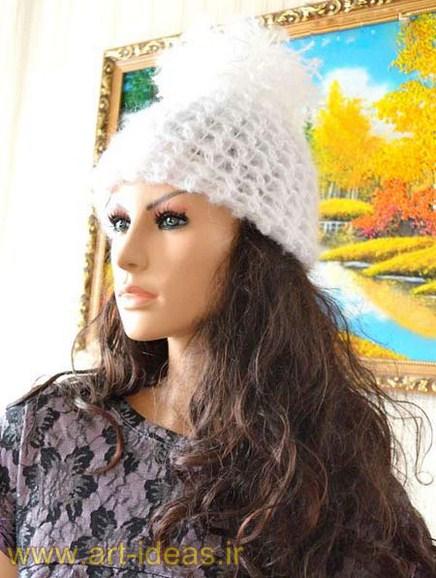 جدیدترین مدل های شال و کلاه بافتنی زنانه