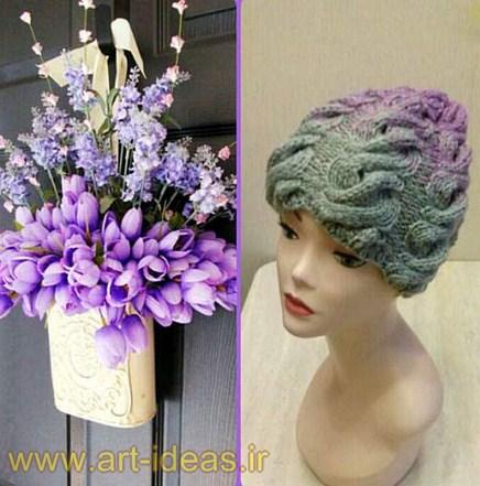 مدل کلاه بافتنی زنانه1