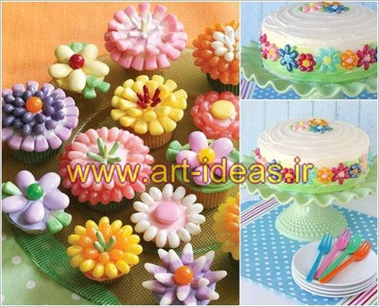 تزیین انواع ژله و کیک و شیرینی با لوبیا ژله