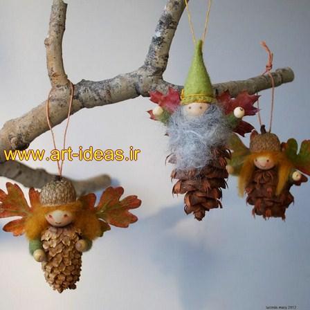 تزیینات زیبا با میوه درخت کاج