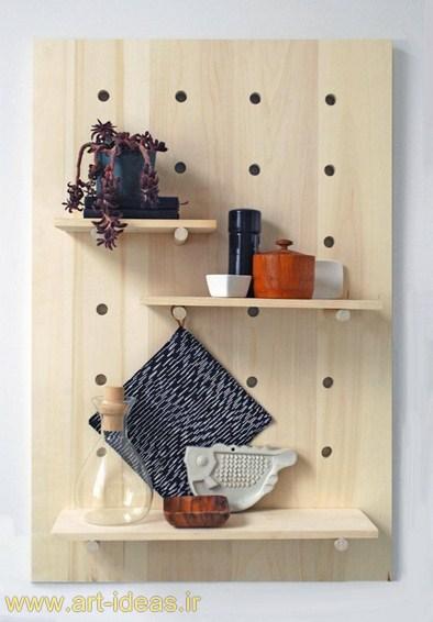 تزیینات دیواری خلاقانه با کشوهای چوبی قدیمی