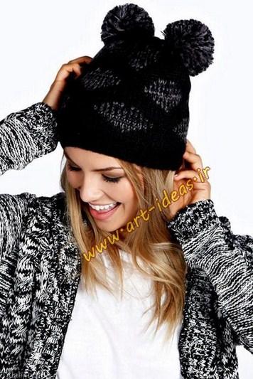 مدل جدید کلاه بافتنی دخترانه