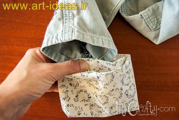 آموزش تغییر سایز شلوار جین بچه گانه