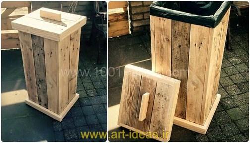 ایده های خلاقانه استفاده از پالت های چوبی در فضای باغ و باغچه