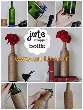 خلاقیت با بطری شیشه ایی دور ریختنی