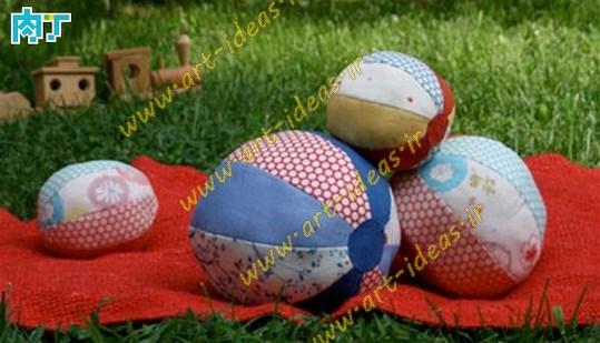 آموزش دوخت توپ بازی پارچه ایی