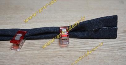 آموزش دوخت دسته پارچه ایی برای انواع کیف