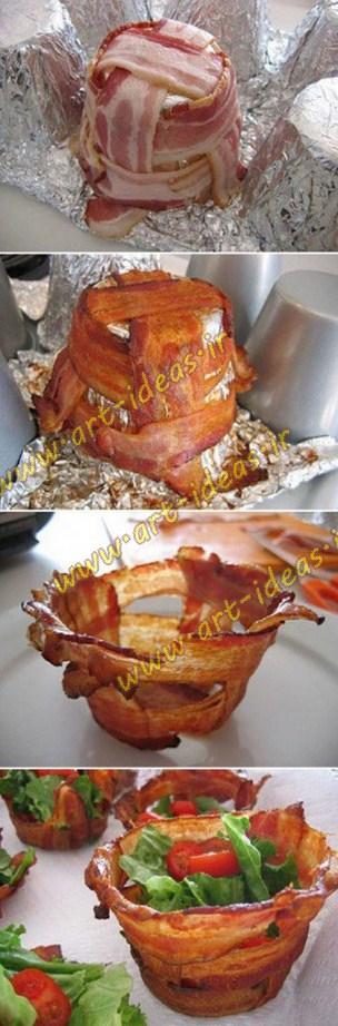 تزیین غذا و خوراک در حین پخت