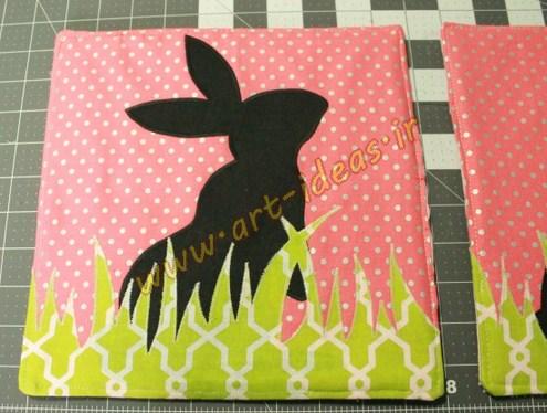 آموزش دوخت زیربشقابی خرگوش