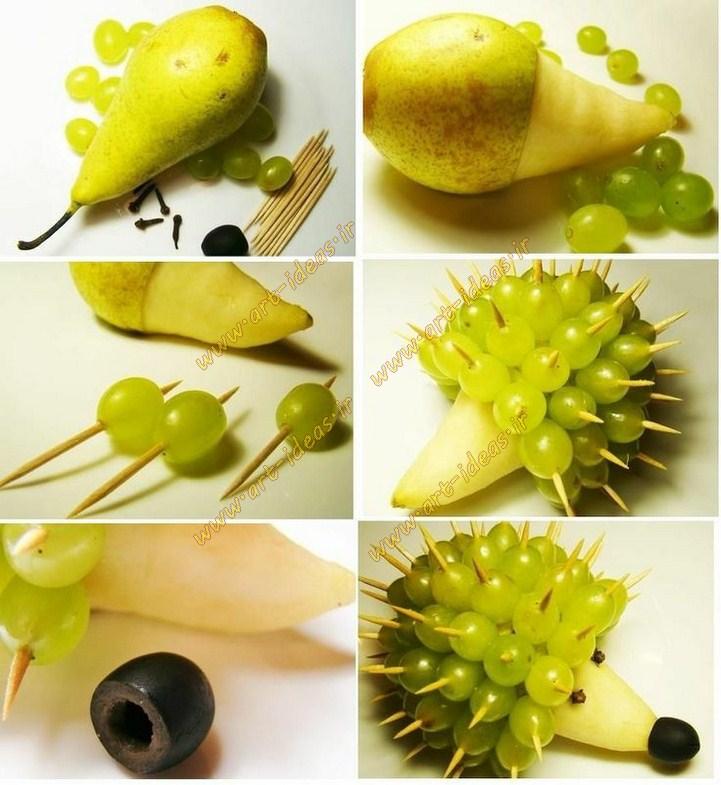 تزیین میوه بشقاب کودک