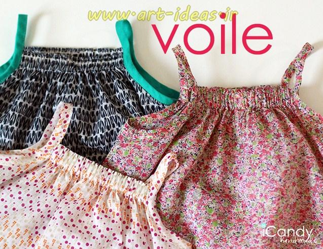 آموزش دوخت لباس بندی دخترانه زیر یک سال