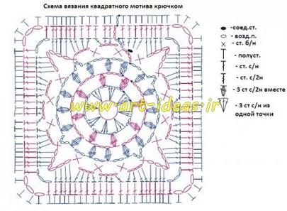 نقشه موتیف مربع