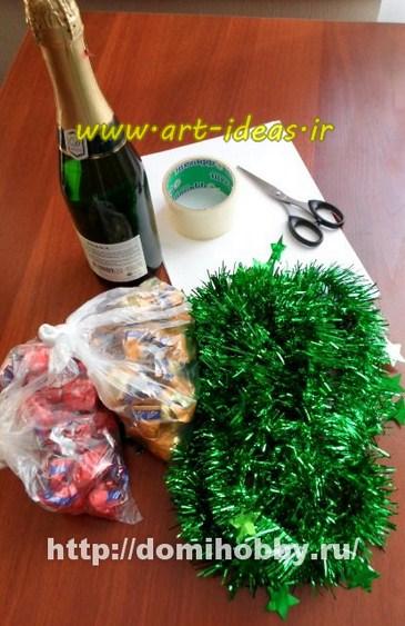 آموزش درست کردن درخت کریسمس با بطری
