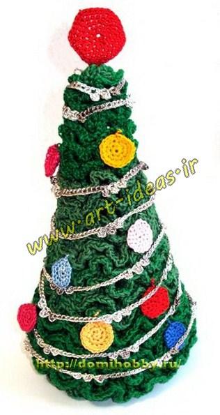 آموزش بافت درخت کریسمس