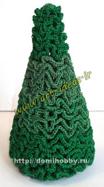 آموزش بافت درخت کریسمس با قلاب