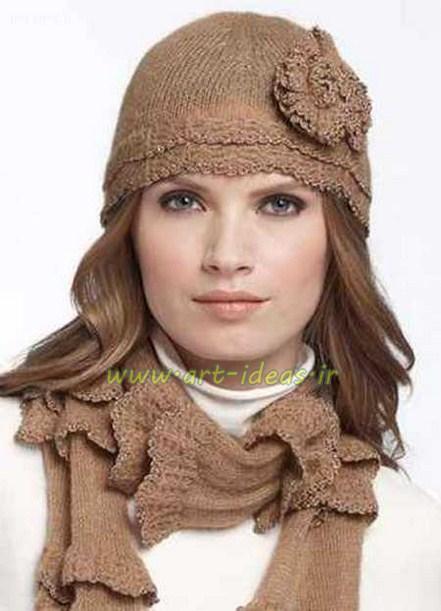 مدل کلاه و شال زنانه