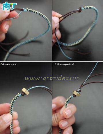 آموزش ساخت دستبند با ریسه زنجیری