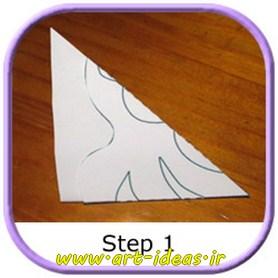 آموزش ساخت دانه های برف کاغذی