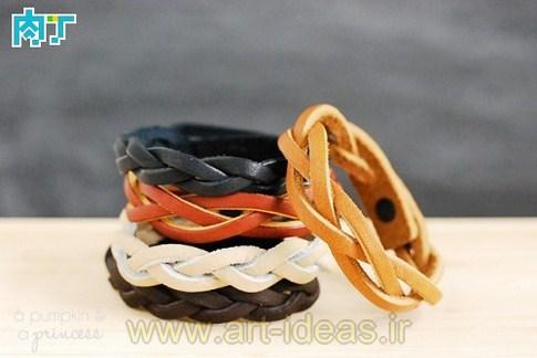 ساخت دستبند چرمی