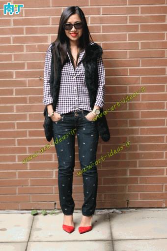 مدل نقاشی روی شلوار جین
