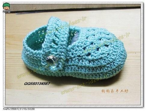 کفش قلاب بافی نوزاد