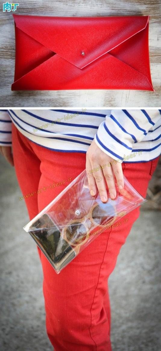 دوخت کیف چرم پاکتی
