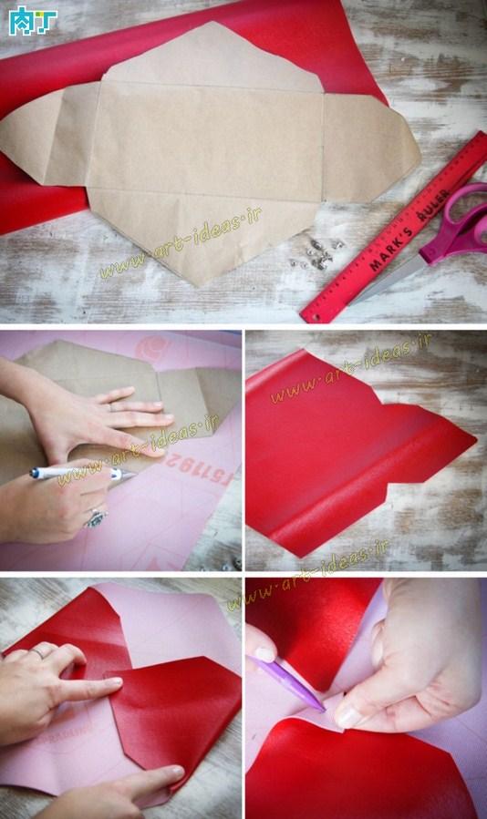 آموزش دوخت کیف چرم پاکتی