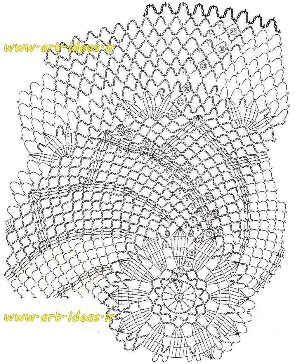 نقشه بافت کوسن با قلاب