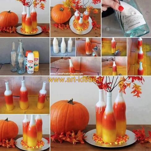 ساخت گلدان ساده با بطری