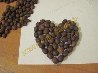 آموزش ساخت مگنت رویخچالی به شکل قلب با قهوه