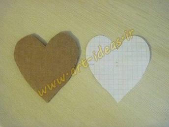 آموزش ساخت مگنت رویخچالی به شکل قلب با دانه قهوه