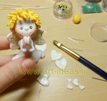 آموزش ساخت عروسک خمیری فرشته