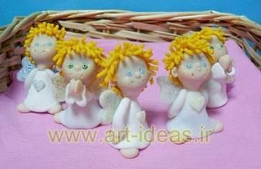 آموزش عروسک خمیری فرشته