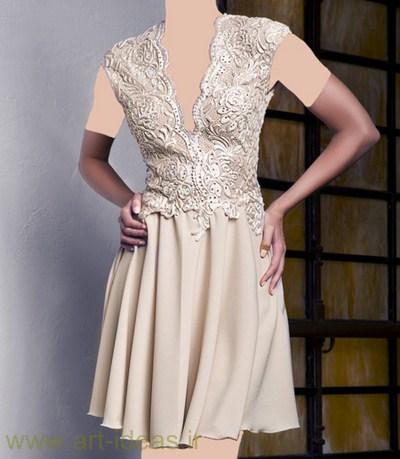 شیک ترین مدل لباس مجلسی رنگ روشن