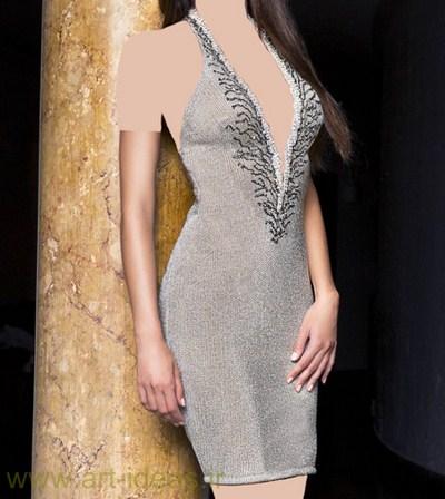 مدل لباس مجلسی خاکستری و دودی