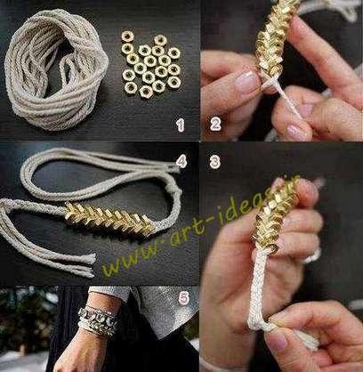آموزش دستبند با مهره