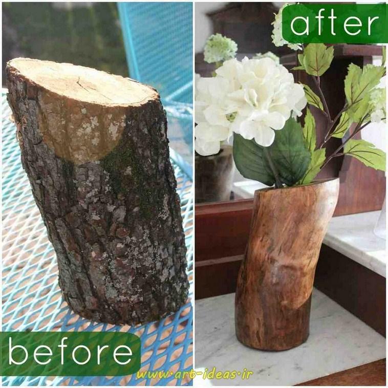 خلاقیت با چوب درختان خشکیده
