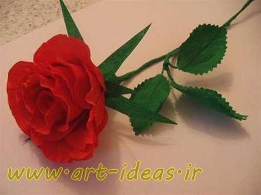 آموزش گل رز با کاغذ کشی