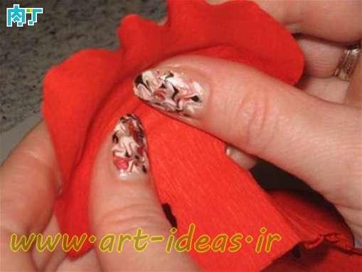 آموزش ساخت گل رز با کاغذ کشی