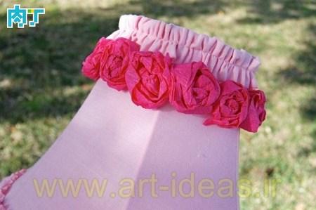 تزیین آباژور با گل رز کاغذی