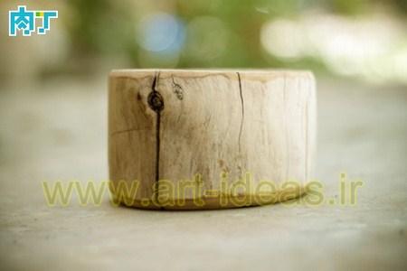 آموزش ساخت جامدادی با کنده درخت