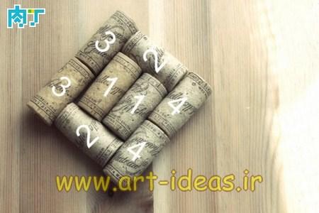آموزش ساخت زیرلیوانی با چوب پنبه