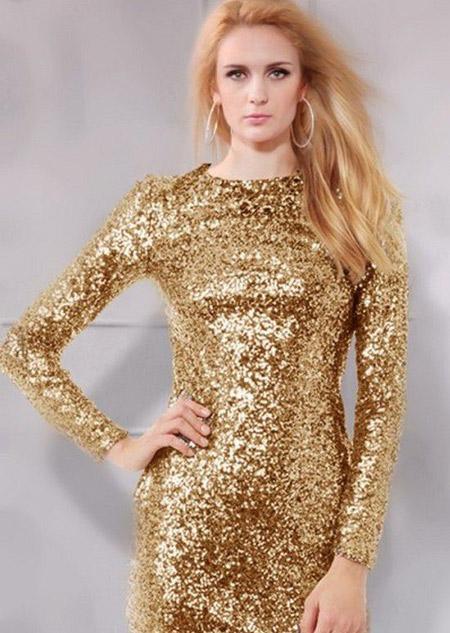 مدل لباس شب پولک دار