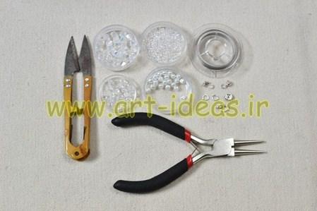 آموزش ساخت دستبند با مهره های کریستالی