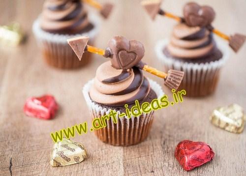 آموزش تزیین کاپ کیک روز عشق