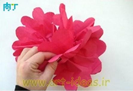 آموزش ساخت گل با کاغذ