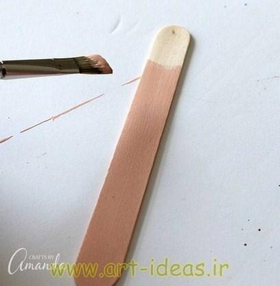 آموزش ساخت نشانه گذار کتاب با چوب بستنی