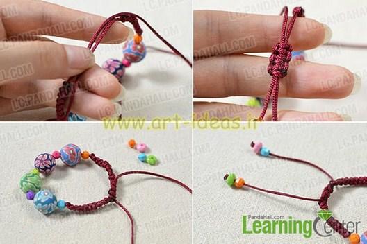 آموزش ساخت دستبند فانتزی با مهرهر های نقش دار