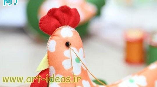 آموزش دوخت عروسک های مرغ و خروس با نمد