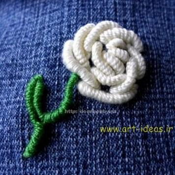 آموزش گلدوزی گل رز